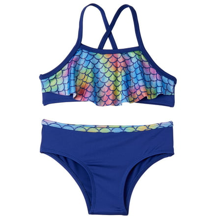 Mermaid Scales 2pc Swimsuit (Baby Girls & Toddler Girls) (Mermaid Swimsuit For Adults)