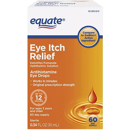 Equate Itch Relief Antihistamine Eye Drops, 0.34 fl oz