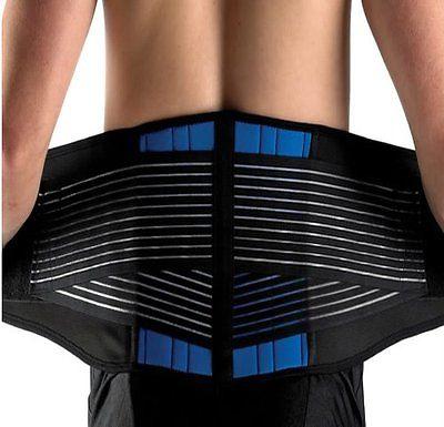 New Deluxe Neoprene Double Pull Lumbar Lower Back Support Brace Exercise Belt