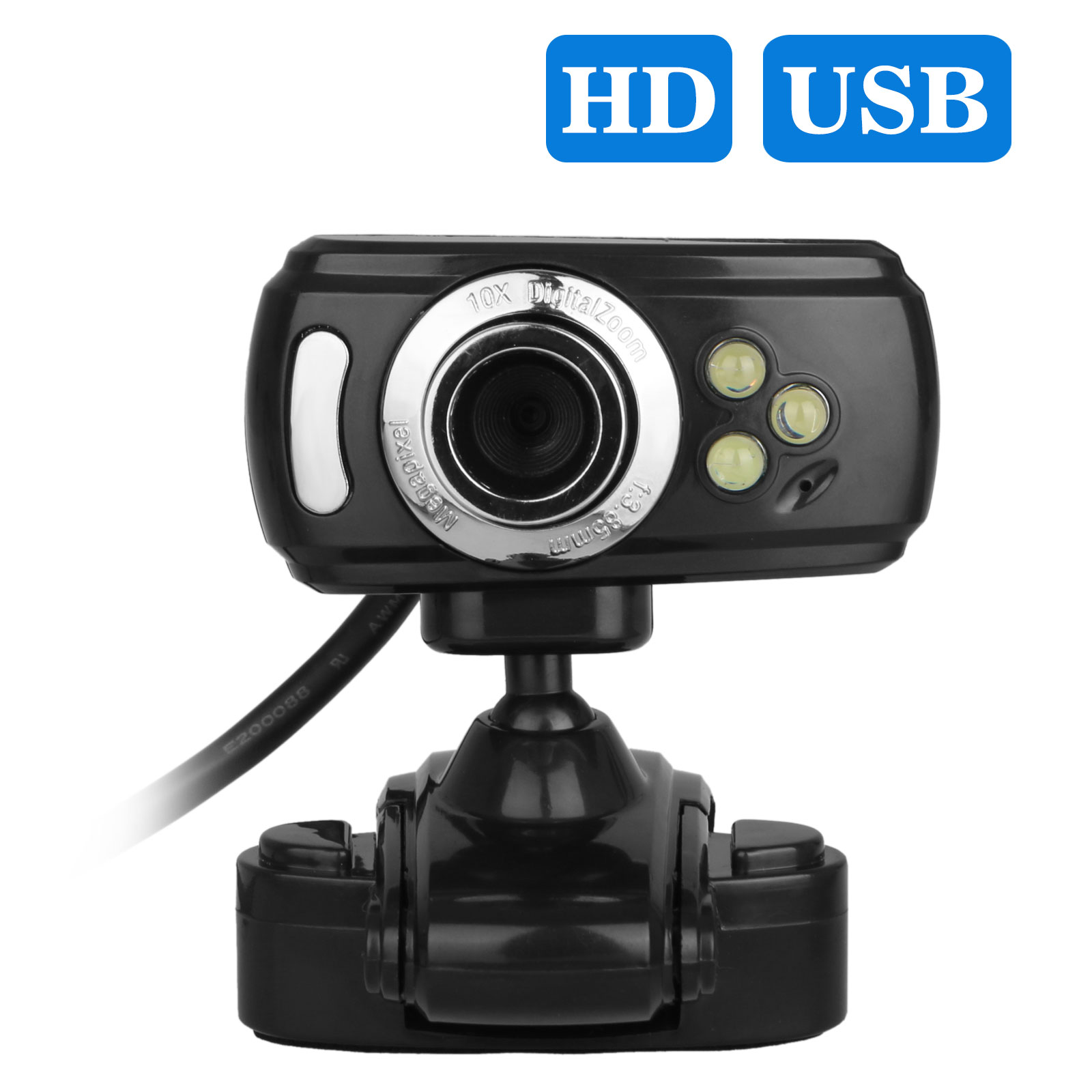 EEEkit Full HD 1080p Webcam, OBS Live Streaming Webcam , Computer Camera with Microphone for Skype Twitch YouTube Facebook, Compatible for Windows 10/8/ 7/98 / Me / 2000 / NT / XP / Vista 32bit