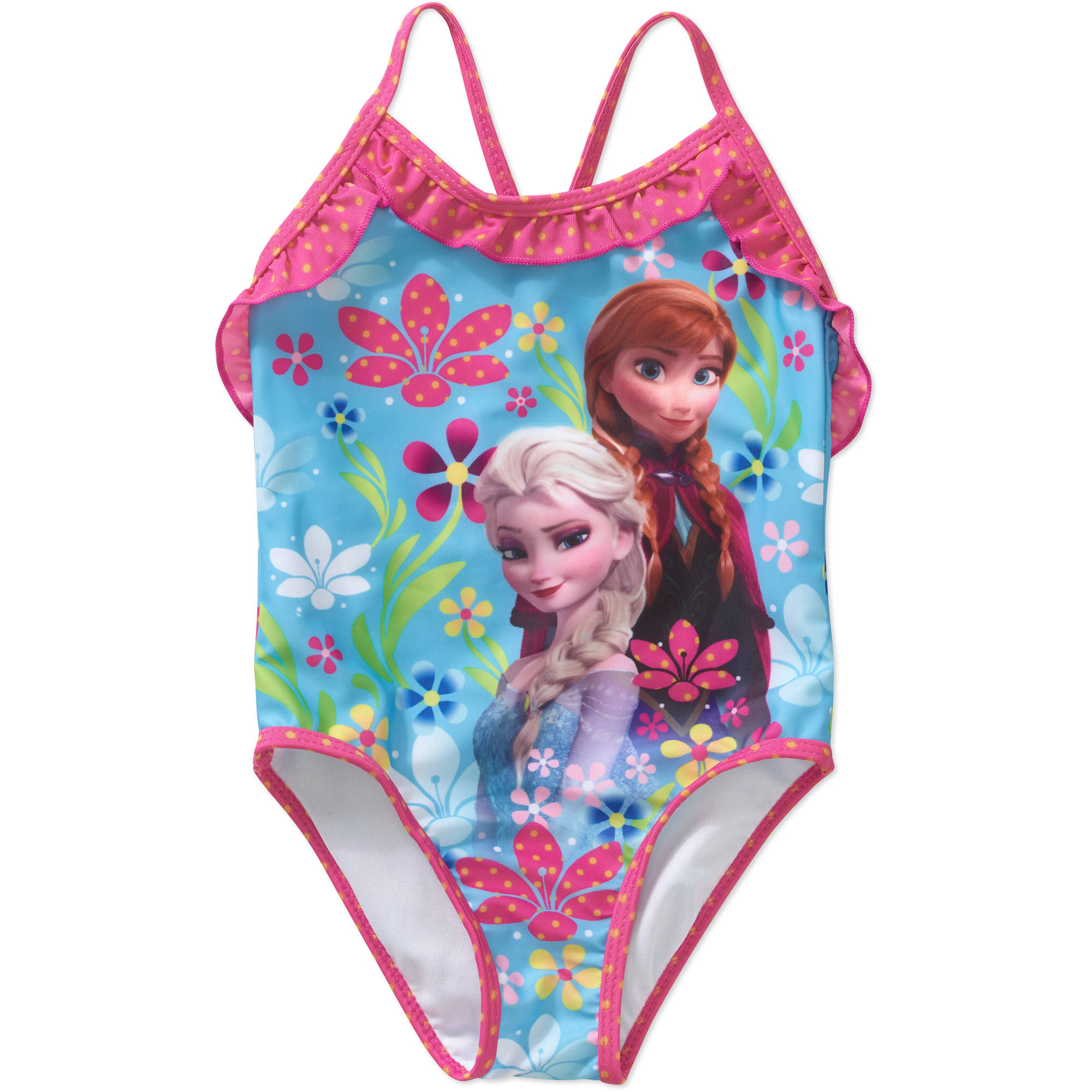 Disney Frozen Baby Toddler Girl One-Piece Graphic Swimsuit