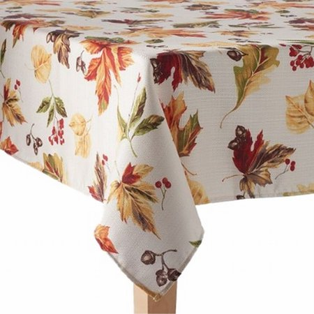 60x84 Fabric Tablecloth - The Big One Fabric Tablecloth Leaves Acorns & Berries Table Cloth 60x84 Ob