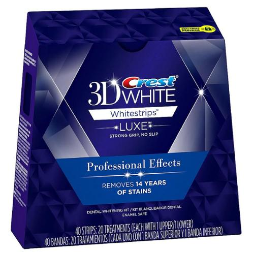 Crest 3D White Luxe Whitestrips Professional Effects Teeth Whitening Kit 20 ea (Pack of 2)