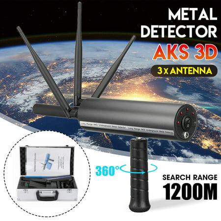 AKS 3D Pro Handhold Metal/Gold Detector Diamond Finder Detecting Machine 3937ft Long Range ()