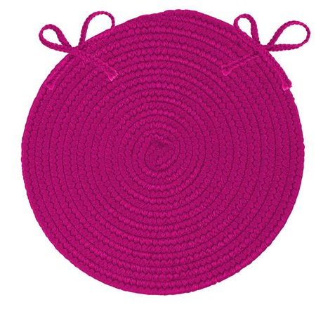 Colonial Mills BR70R084X084 7 ft. Boca Raton Braid Outdoor Round Rug, Magenta - image 1 of 1