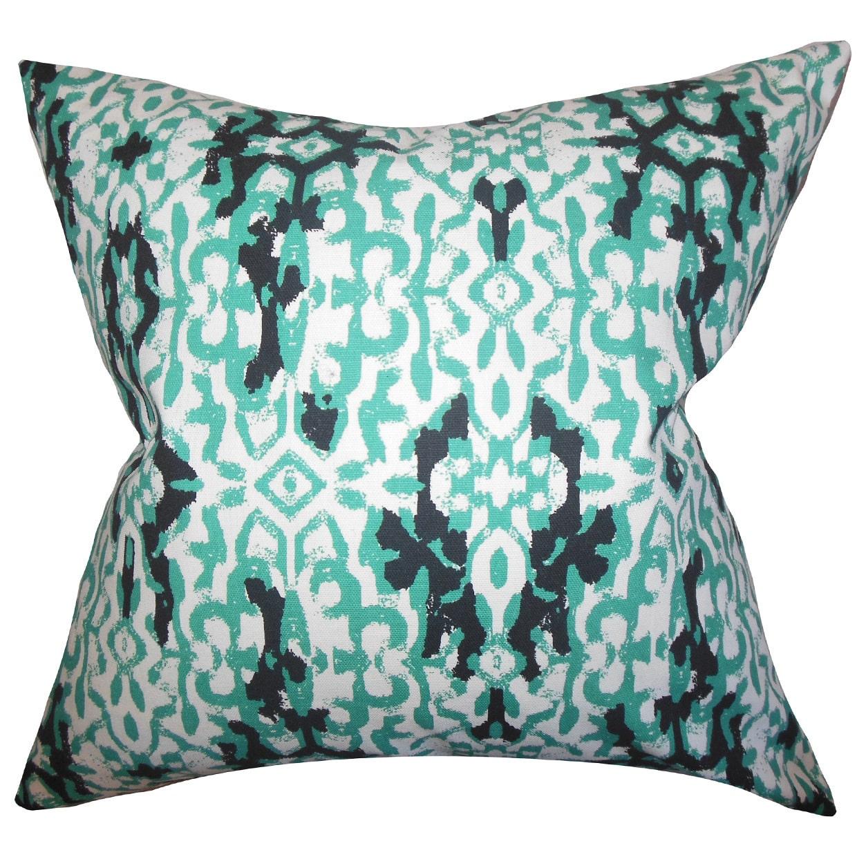 The Pillow Collection Madrigal Ikat Euro Sham Jade Walmart Com Walmart Com