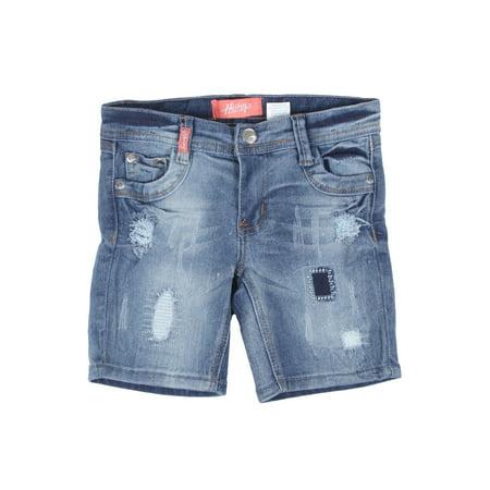 8H057(B) - Girls Stretch 5 Pockets Ripped Premium Bermuda Shorts