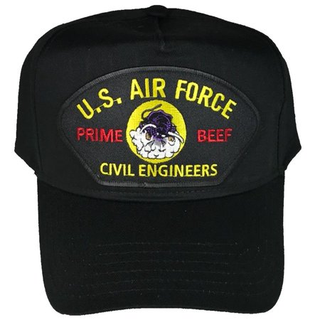 Air Force Civil Engineer (USAF AIR FORCE PRIME BEEF VETERAN HAT CHARGING CHARLIE RED HORSE CIVIL ENGINEER)