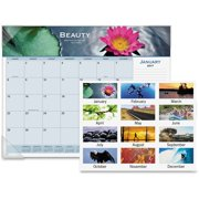 AT-A-GLANCE Visual Organizer Recycled Motivational Panoramic Monthly Desk Pad, 22 x 17 89801-10