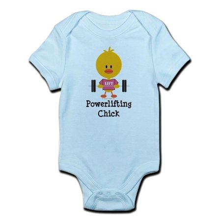 CafePress - Powerlifting Chick Infant Bodysuit - Baby Light Bodysuit Chick Infant Bodysuit