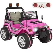 best choice products 12v ride on car truck w remote control leather seat