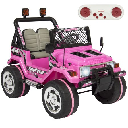 Best Choice Products 12V Ride On Car Truck W  Remote Control  Leather Seat  Uv Lights  2 Speeds  Pink