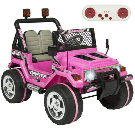 Best Choice Products 12V Ride On Car Truck W  Remote Control  Leather Seat  Lights  2 Speeds  Pink