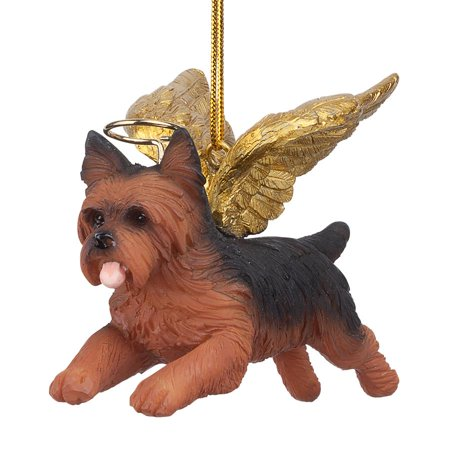 Design Toscano Honor the Pooch: Yorkie Holiday Dog Angel -