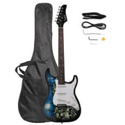 Glarry Basswood 22 Frets Electric Guitar + Gigbag + Strap + Pick 4 Color