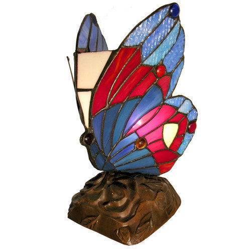 Warehouse of Tiffany Butterfly Accent 9.5'' H Table Lamp with Novelty Shade