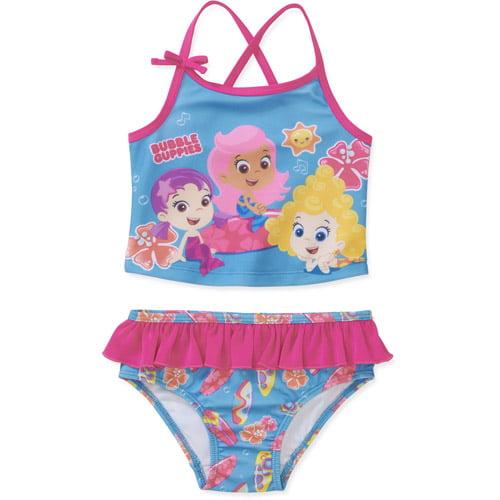 Baby Girls' Bubble Guppies 2 Piece Tankini Swimsuit