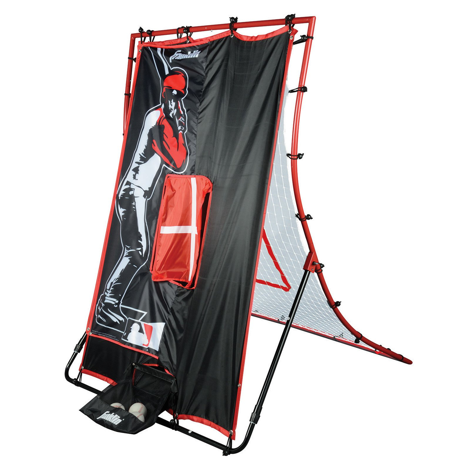 Franklin Sports 19069 MLB 65-inch 2-in-1 Switch Hitter Flyback Return Trainer