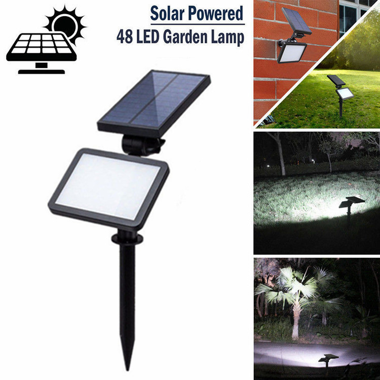 48 LED Super Bright Waterproof Solar Powered Lamp Flood Light Spot Lamp