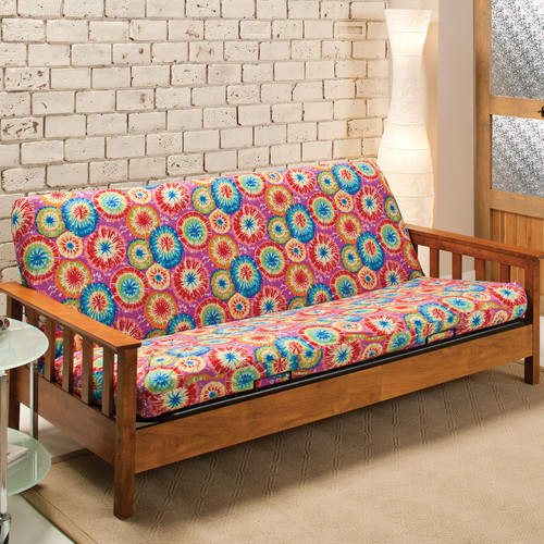 Madison Home Patterned Stretch Jersey Futon Slipcover