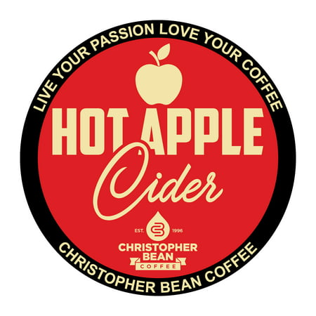 Hot Apple Cider Single Cup Coffee Christopher Bean Coffee K Cup, For Keurig Brewers (18 Count Box) ()