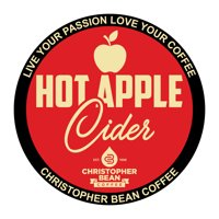 Hot Apple Cider Single Cup Coffee Christopher Bean Coffee K Cup, For Keurig Brewers (18 Count Box)