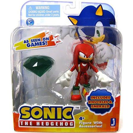 Sonic The Hedgehog Knuckles Action Figure [With Emerald]