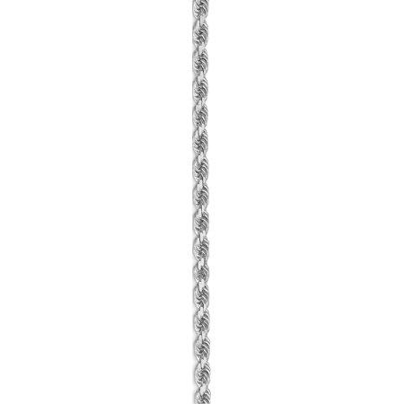 Leslies or blanc 14K 3.00mm Diamond- coupe cha?ne corde - image 2 de 5