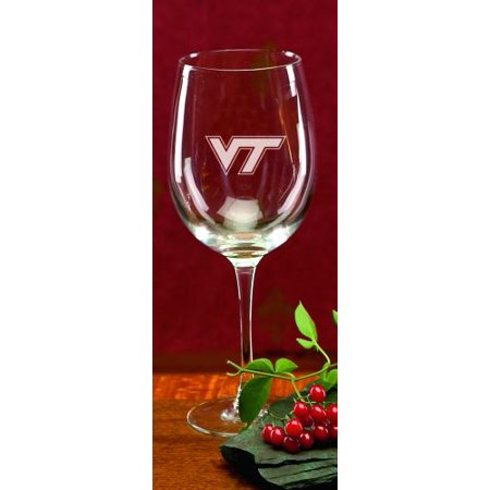 Virginia Tech Hokies Deep Etched Red Wine Goblet (Halloween Goblets Bulk Uk)