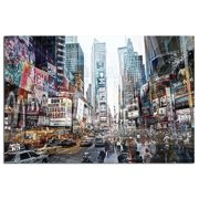 Modern Home Ultra High Resolution Tempered Glass Wall Art - 3D Times Square New York 2