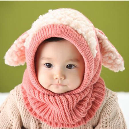 5662e0dd7 Zerone Cute Comfortable Winter Baby Hat and Scarf Joint Knitted Caps for  Infant Boys Girls, Dog Style Baby Winter Hat, Newborn Baby Hat