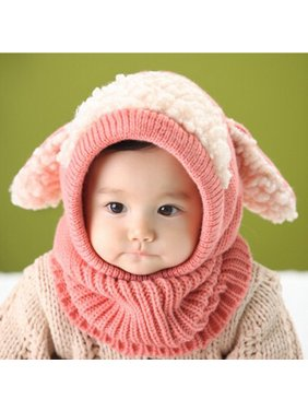 Baby Winter Hat,Zerone Dog Style Comfortable Winter Baby Hat and Scarf Joint Knitted Caps for Infant Boys Girls
