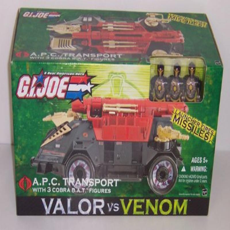 Hasbro G.I. Joe - A.P.C. Transport With 3 Cobra B.A.T. Fi...