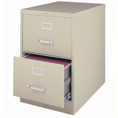 3000 Series 26.5-inch Deep 2-Drawer, Legal-Size Vertical File Cabinet, Putty 2 Drawer Legal File Cabinet