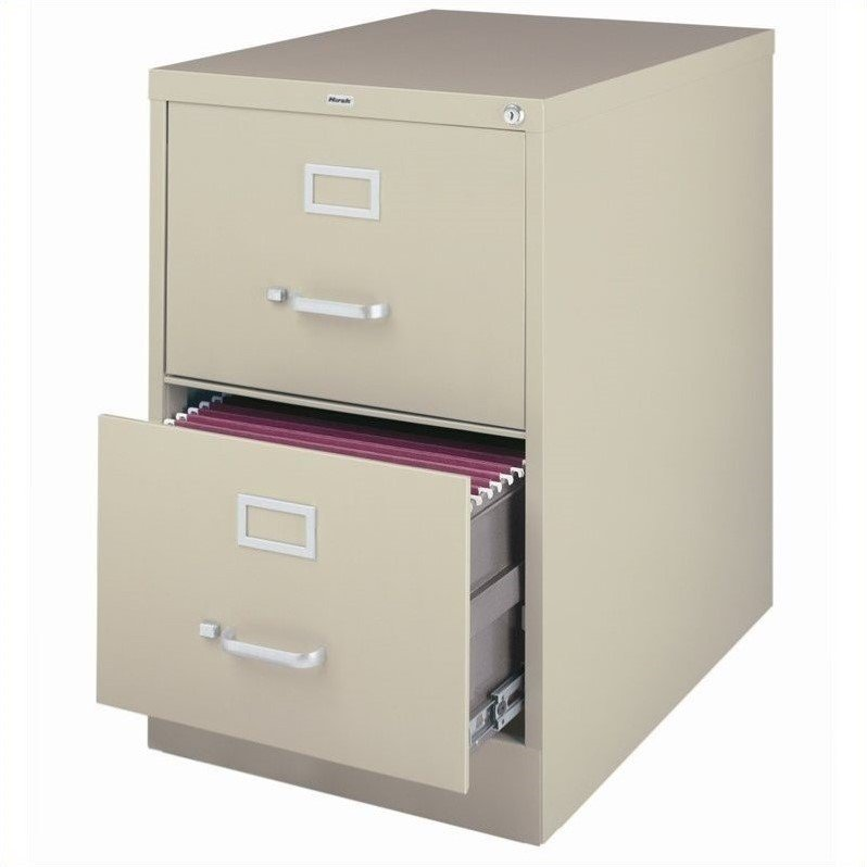 3000 Series 26.5-inch Deep 2-Drawer, Legal-Size Vertical File Cabinet, Putty