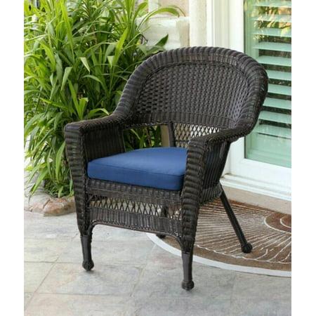 36 Quot Espresso Brown Resin Wicker Outdoor Patio Garden Chair