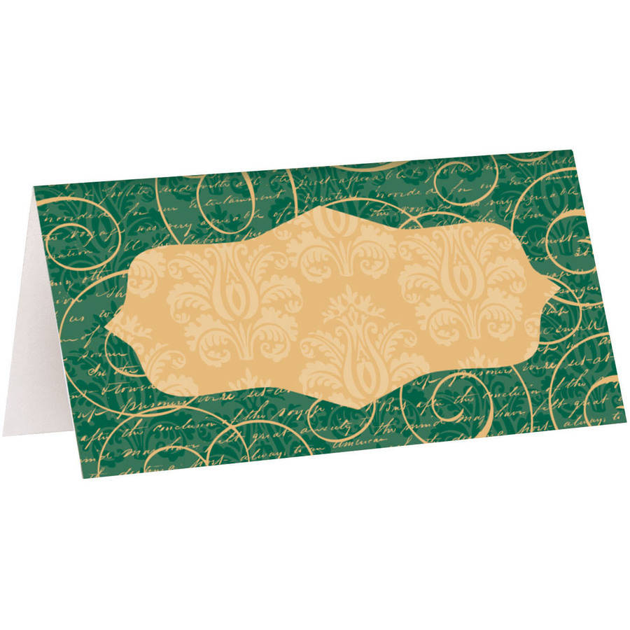 Elegant Christmas Place Cards, 16ct