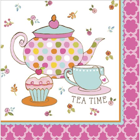 Club Pack of 192 Tea Time Premium 3-Ply Disposable Lunch Napkins 6.5
