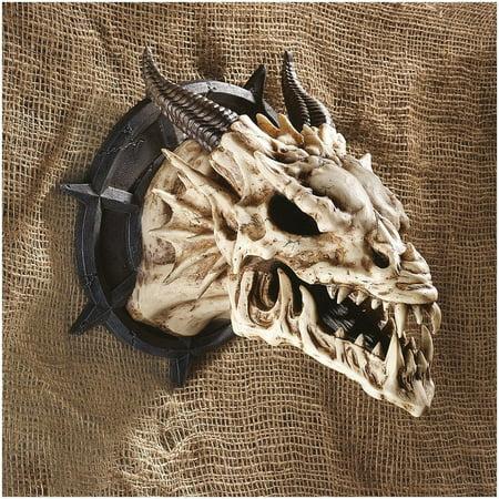 Skull Trophy (Design Toscano Horned Dragon Skull Wall Trophy, Dimensions: 10