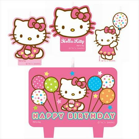 Amscan BB016217 Hello Kitty Candle Set