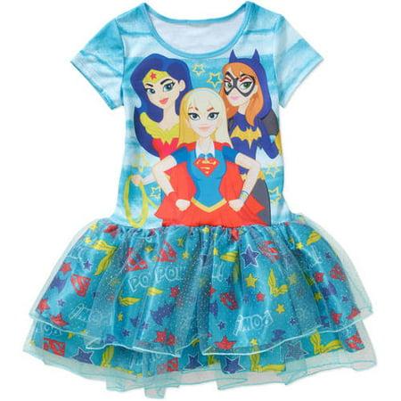 Dc Descendants Girls Sublimated Tutu Dress Brickseek