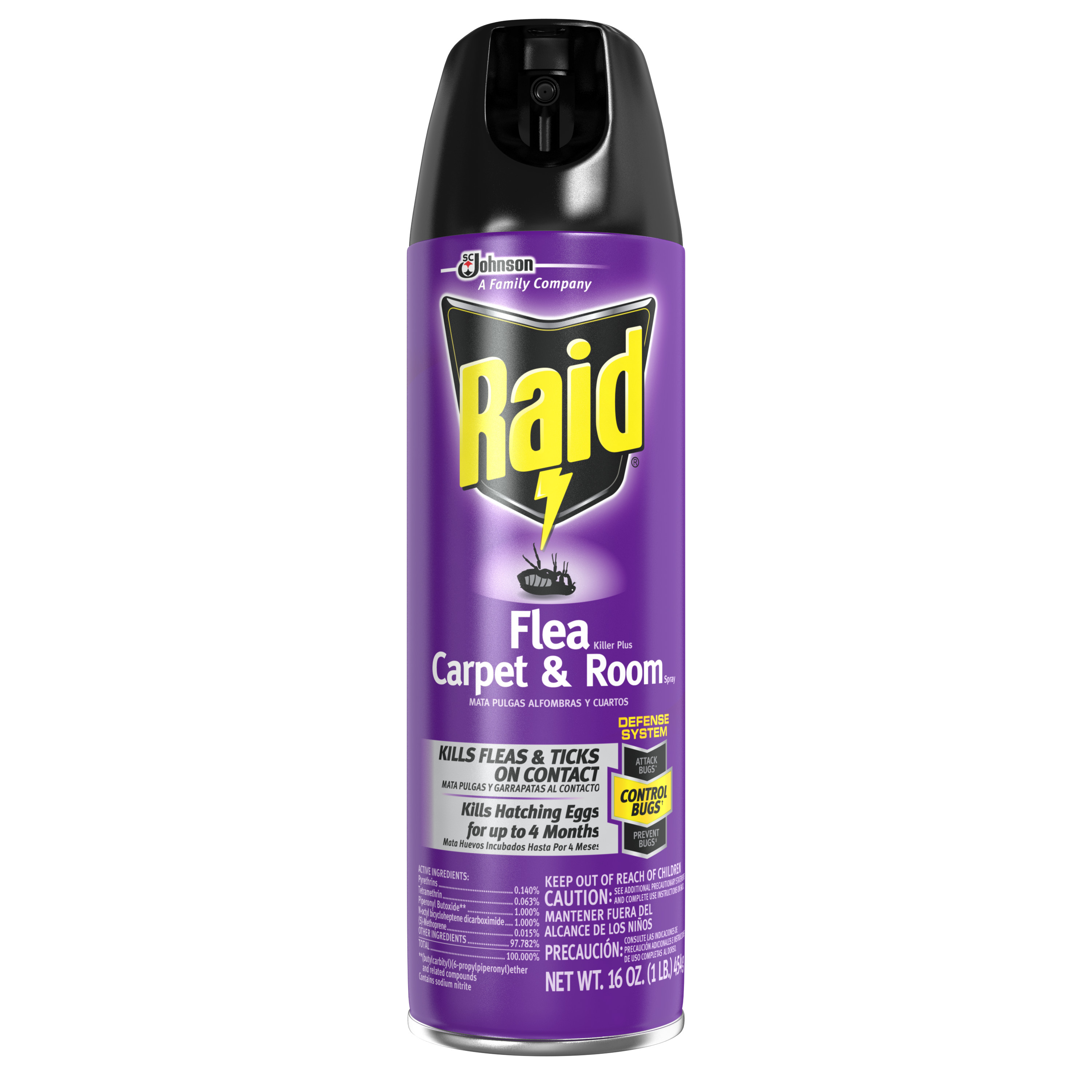 Raid Flea And Tick Killer, Carpet and Room Spray, 16 oz