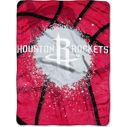 "NBA Shadow Play 60"" x 80"" Royal Plush Raschel Throw, Rockets"
