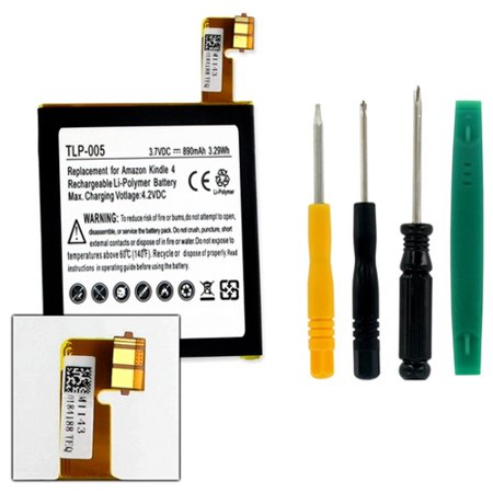 High Capacity Mag (D01100 Tablet Battery TLP-005 Li-Pol Battery - Rechargable Ultra High Capacity (Li-Pol 3.7V 890 mAh) - Replacement For MC-265360 Tablet Battery - Installation Tools Included )