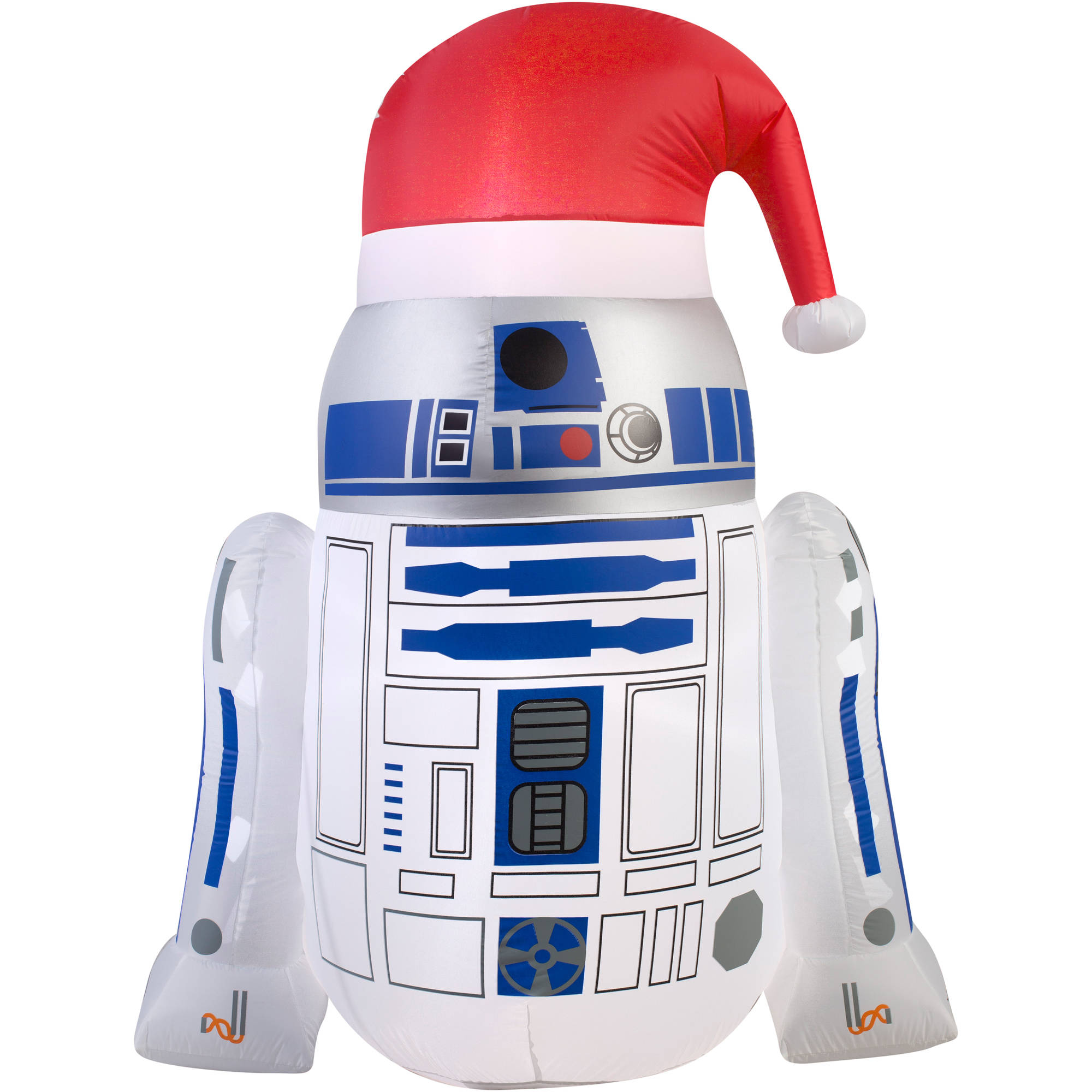 "4'6"" Airblown Inflatable R2D2 with Santa Hat Star Wars Christmas Inflatable"