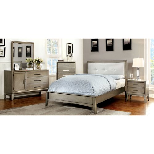 Furniture of America Hilary 4-Piece Gray Bedroom Set, Multiple Sizes by Furniture of America