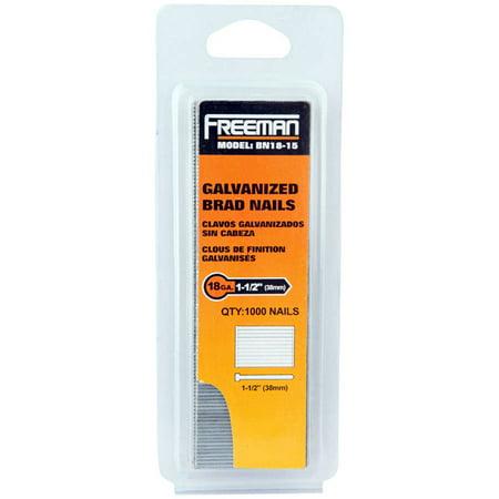 Freeman BN18-15 18GA 1 1/2-Inch Glue Collated Brad Nails, 1000 Count