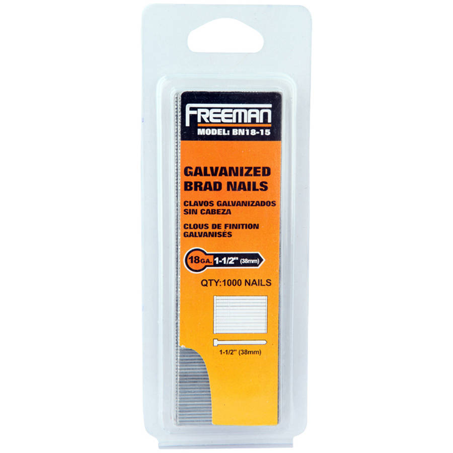 Freeman BN18-15 18GA 1 1/2-Inch Glue Collated Brad Nails, 1000 Count