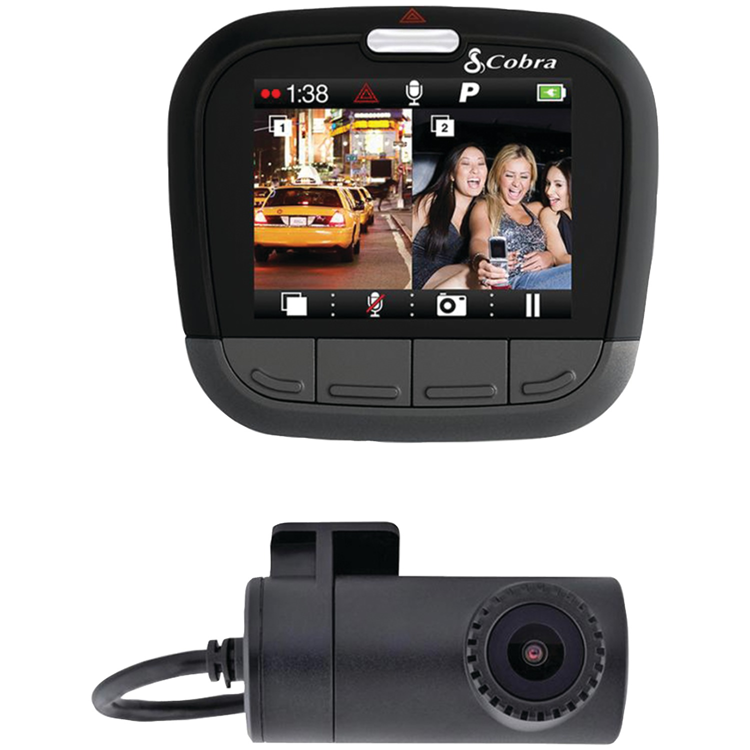 "Cobra Cdr 895d Cdr 895 D Drive Hd Dual-channel Dash Cam With 2"" Screen"