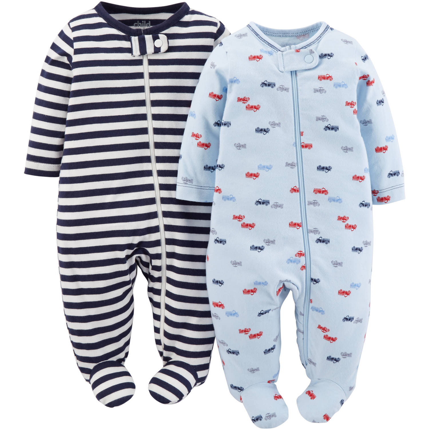 Child Of Mine Made By Carter's Newborn Baby Boy Sleep N Play, 2 Pack